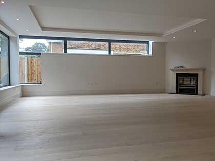 An engineered oak wooden floor was installed all throughout the ground floor #CraftedForLife
