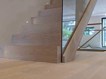 Beautifully precise oak stair cladding #CraftedForLife