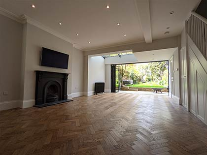 The existing subfloor was concrete and the new large subfloor in the extension was made of suspended timber #CraftedForLife