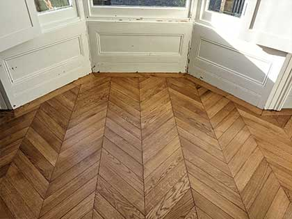 The parquet in the living room was well calculated for perfect symmetry #CraftedForLife