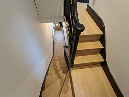 The project included stair cladding all the way up to the loft suite #CraftedForLife