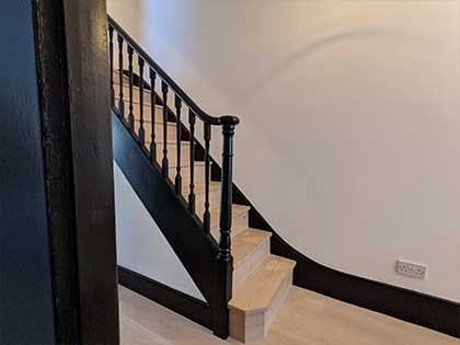 We carried out the necessary structural work to produce a strong staircase #CraftedForLife