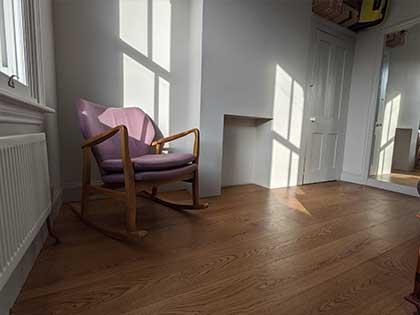 Wide engineered oak boards in the bedrooms #CraftedForLife
