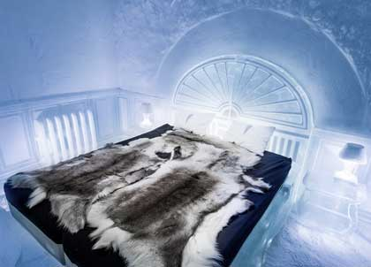 A cold draughty room can feel very similar to one in an ice hotel