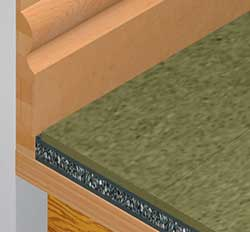 Acoustilay MDF detail - high performance acoustic underlay