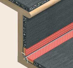 Acoustilay Stairs detail - high performance acoustic underlay