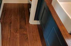 Engineered Walnut Floor fitting professional services from Fin Wood Ltd