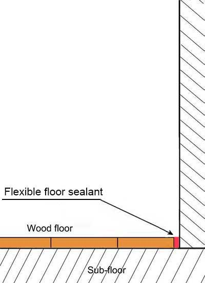 Flexible floor sealant