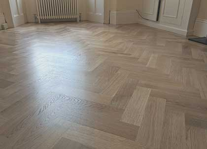The stunning new parquet wood floor