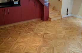 Parquet flooring London Versailles pattern parquet professional services from Fin Wood Ltd
