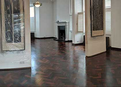 Our work completely revitalised the original parquet wood floor