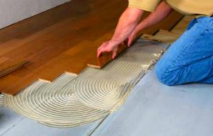 Glued Down Wooden Floor Hardwood or Engineered