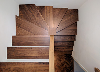 All our stair work is bespoke, so we can work with all shapes and sizes