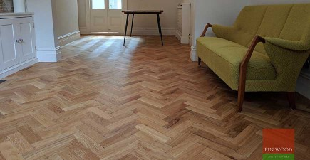 Aged Oak Herringbone Engineered Parquet in SW11 Wandsworth